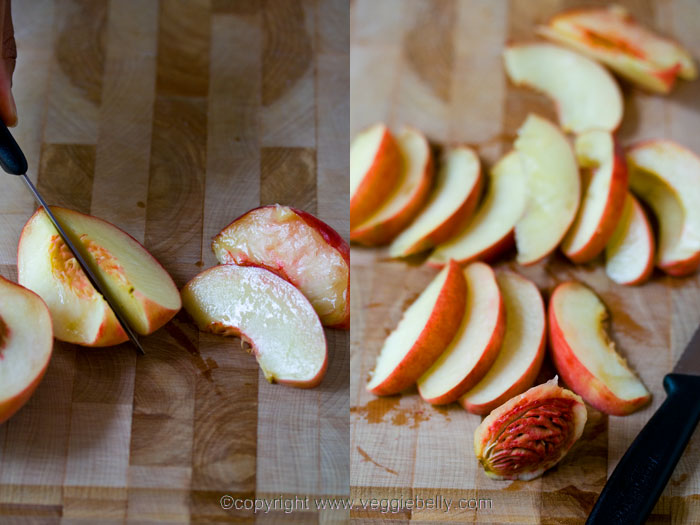chop-peach-into-wedges