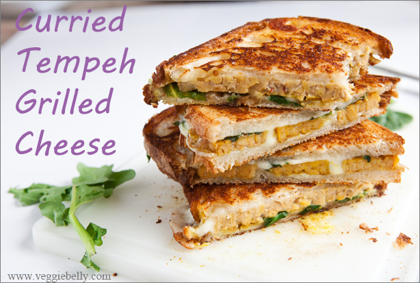 Grilled Tempeh Recipes Curried tempeh grilled cheese sandwich with ...