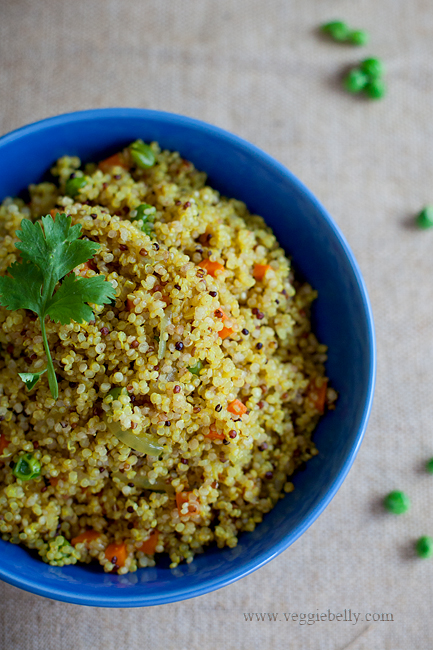 Quinoa upma recipe veggie belly vegetarian recipe ive taken the classic south indian forumfinder