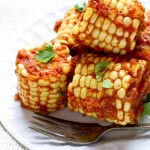 masala coated corn cobs