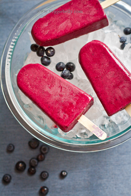 Blueberry Lime Lassi Popsicles