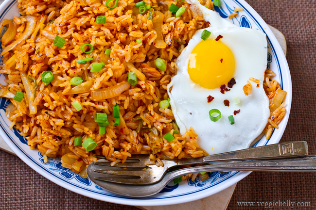 Kimchi Fried Rice | Veggie Belly | Vegetarian Recipe