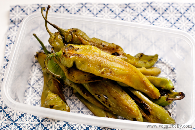 Roasted whole hatch chiles