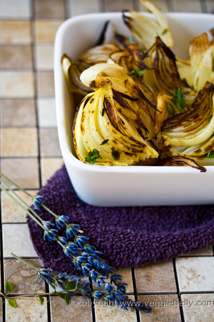 lavender roasted onions2