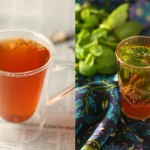 lashmiri kkawa and moroccan mint tea