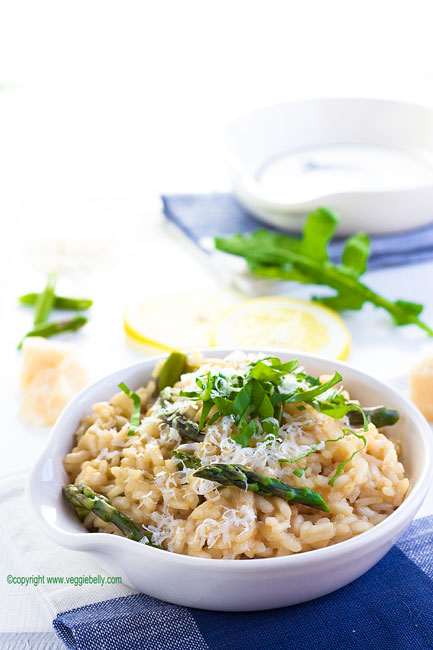 Asparagus and Lemon Risotto with Arugula | Veggie Belly | Vegetarian ...