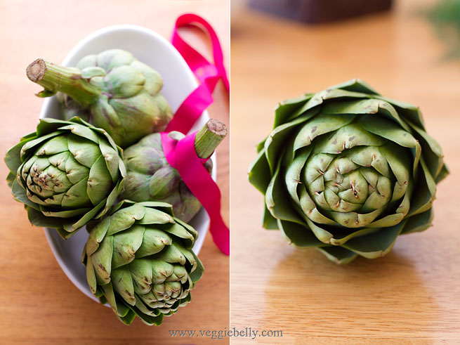 How to trim and clean an Artichoke Heart | Veggie Belly | Vegetarian ...
