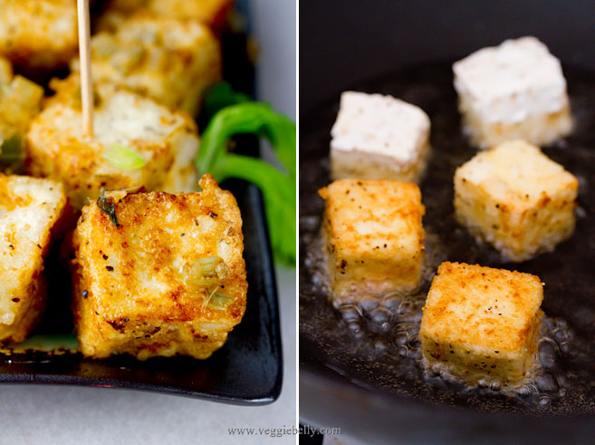 Once you fry the tofu, toss it in sauteed leeks, celery, ginger ...