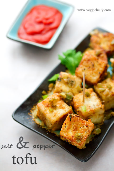 Chinese Salt and Pepper Tofu Restaurant Style | Veggie Belly ...