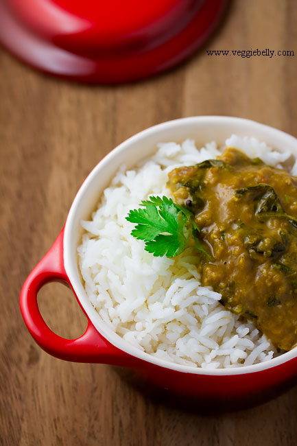 Creamy Spinach Dal (Lentil Spinach Curry) | Veggie Belly ...