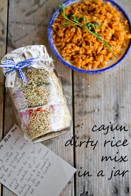 Cajun Dirty Rice Mix in a Jar. Homemade Holiday Gift Ideas ...
